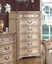 Royale Light Poster Traditional Canopy Bed Leather Bedroom Set w/ Marble