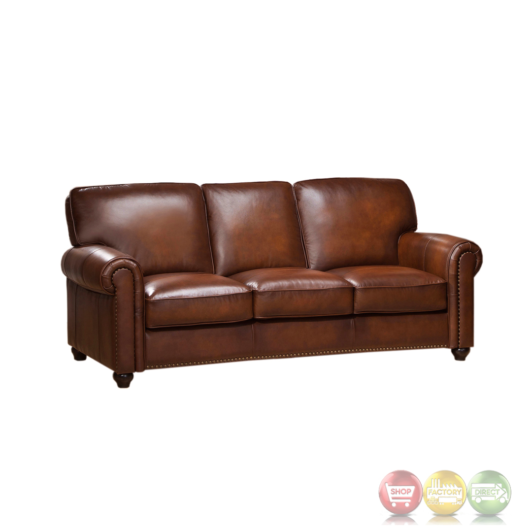 Brown Leather Sofa With Nailhead Trim Royale Olive Brown  : royale olive brown genuine leather sofa with nailhead trim 1 from sherlockdesigner.com size 1080 x 1080 jpeg 209kB