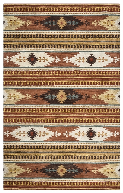 Rizzy Rugs Rust Southwest Hand Tufted Area Rug Southwest SU8156