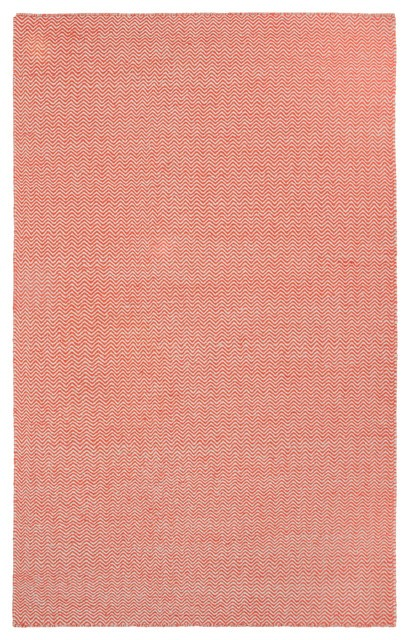 Rizzy Rugs Rust Transitional Hand Woven Dhurrie Area Rug Twist TW2918