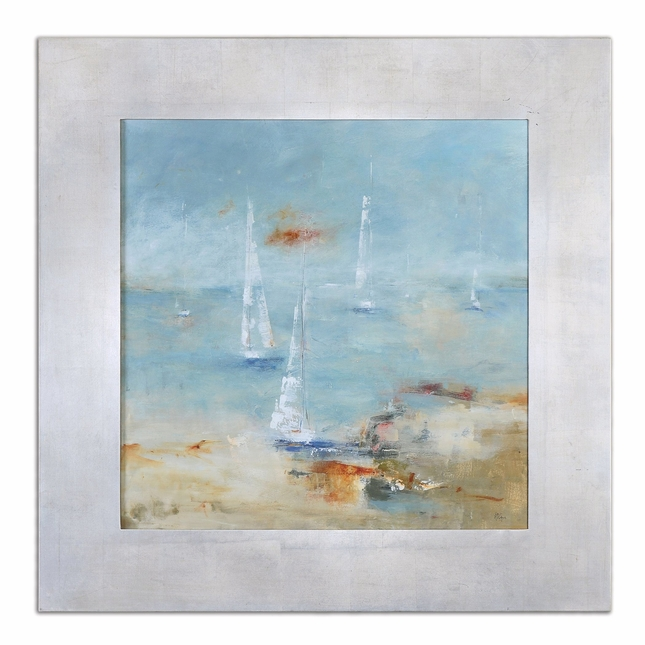 Sail Time Framed Hand Painted Canvas Art 41533