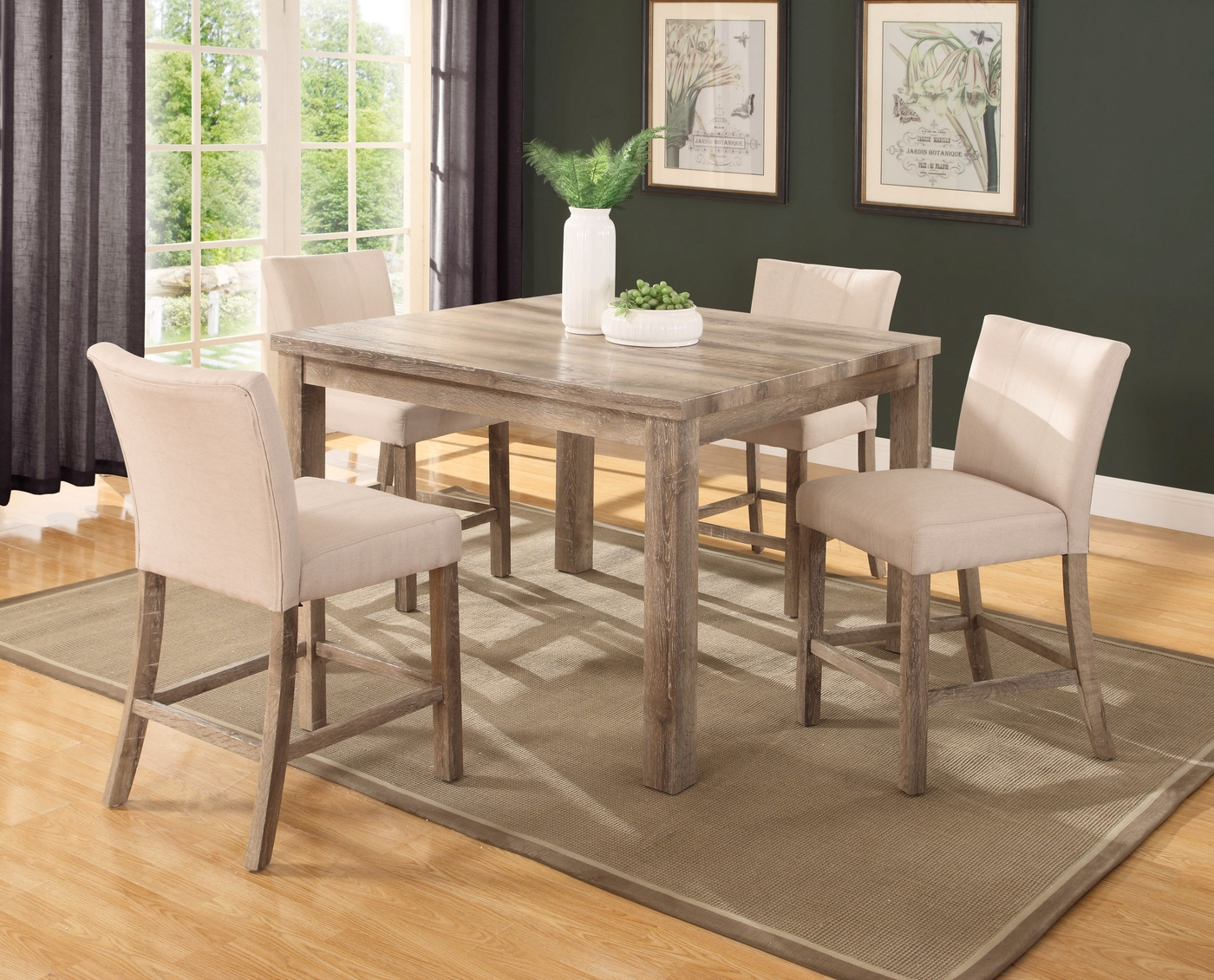 Sanders 5 Pc 48 Quot Counter Height Dining Set In Weathered