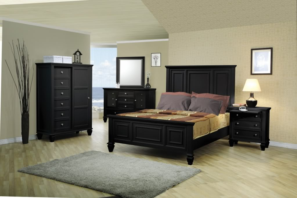 Sandy Beach Black Bedroom Furniture Set CoasterFree Shipping ...