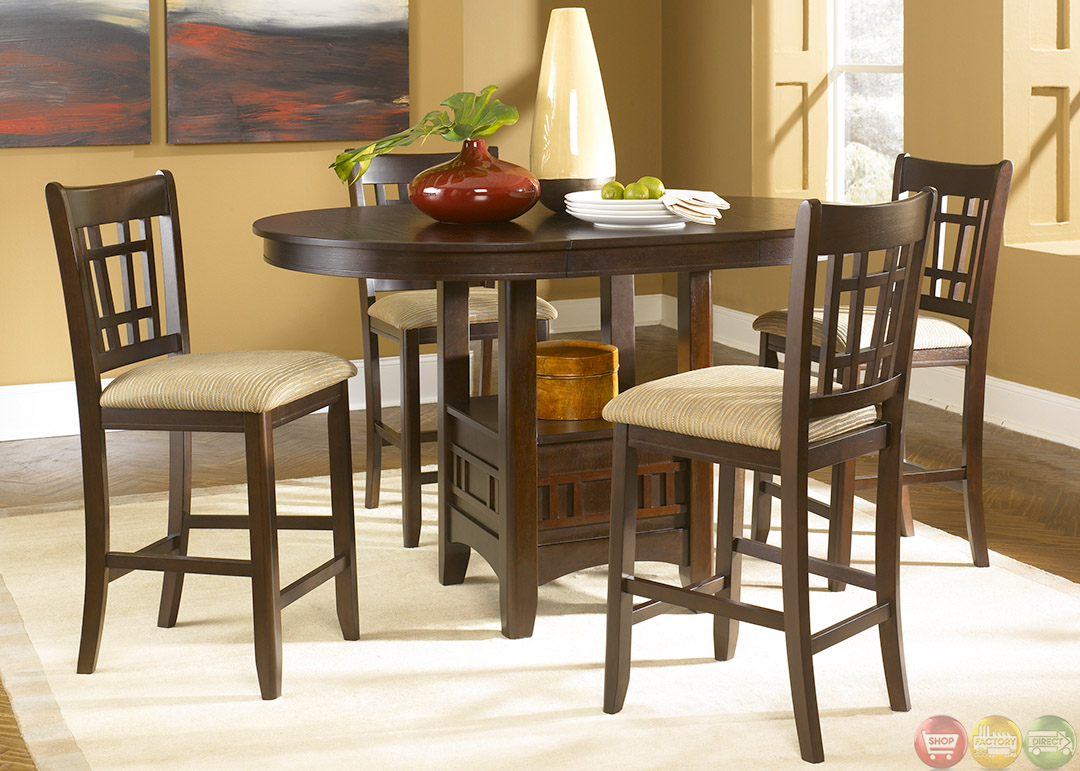 Santa Rosa Merlot Finish Counter Height Casual Dining Set
