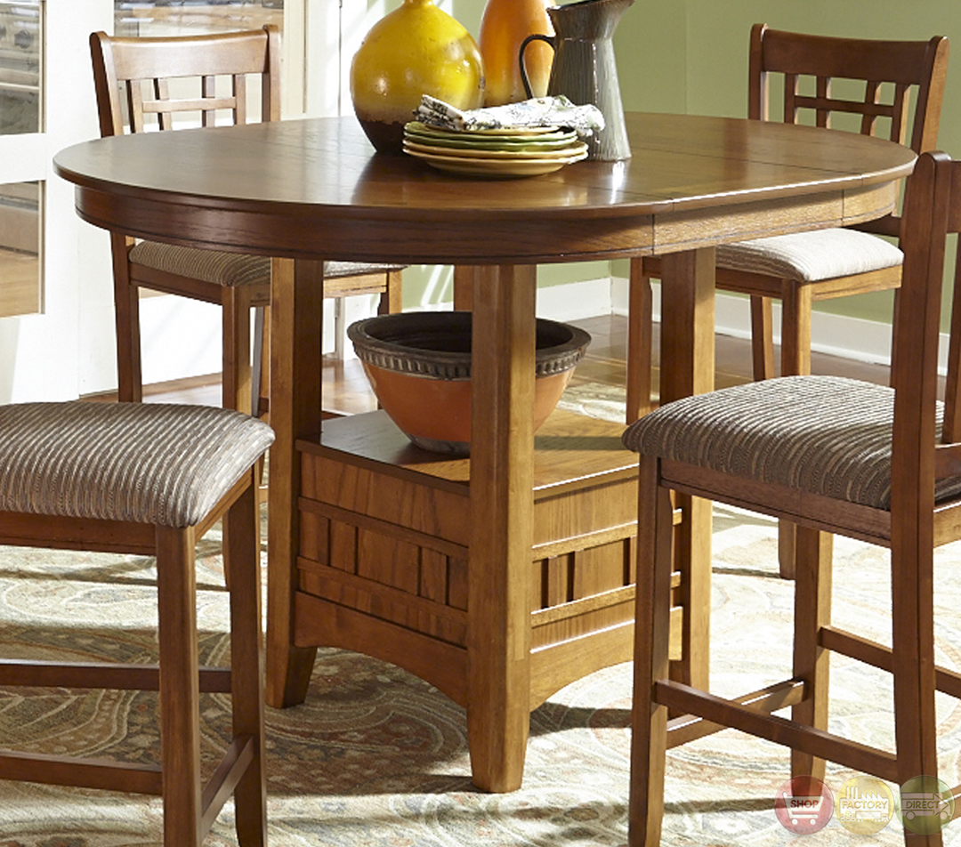 Pub Style Dinette Sets: Santa Rosa Mission Style Counter Height Casual Dining Set