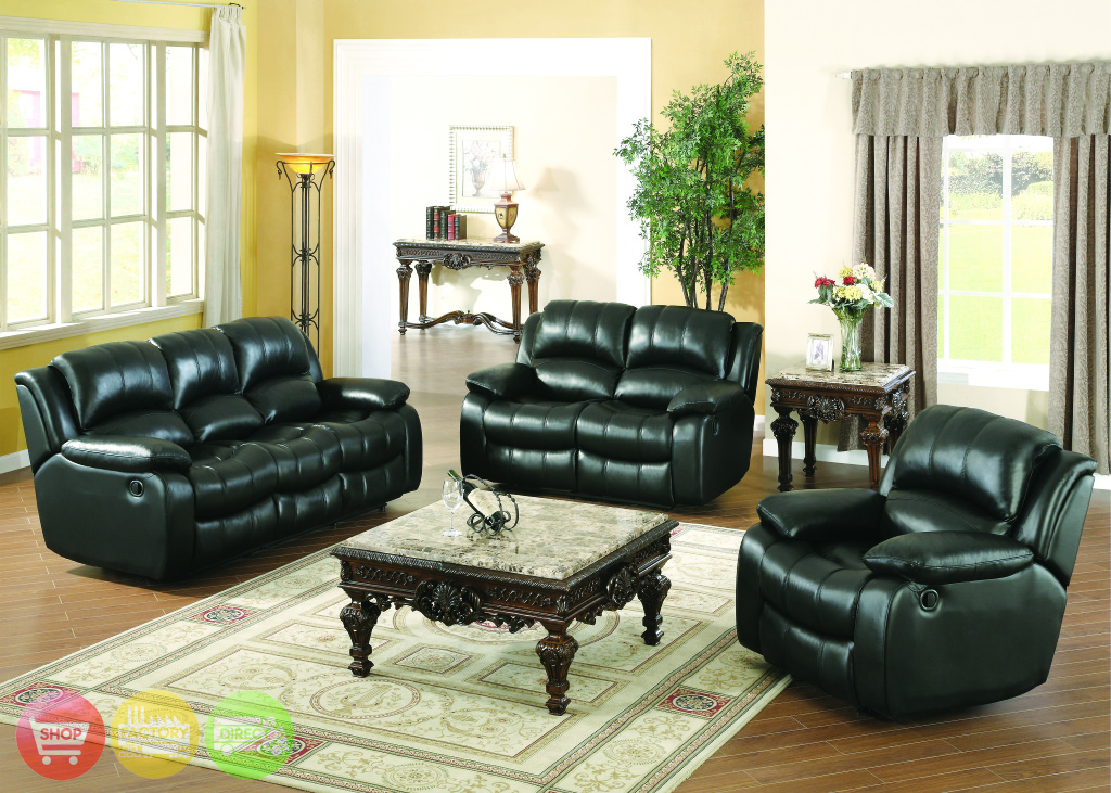 sebastian black leather motion living room furniture reclining sofa