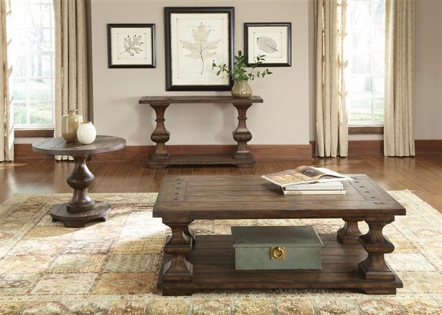 Sedona 3 Piece Brown Traditional Occasional Table Set