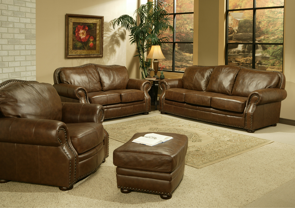 traditional 100 leather living room sofa set parker living seq 9300