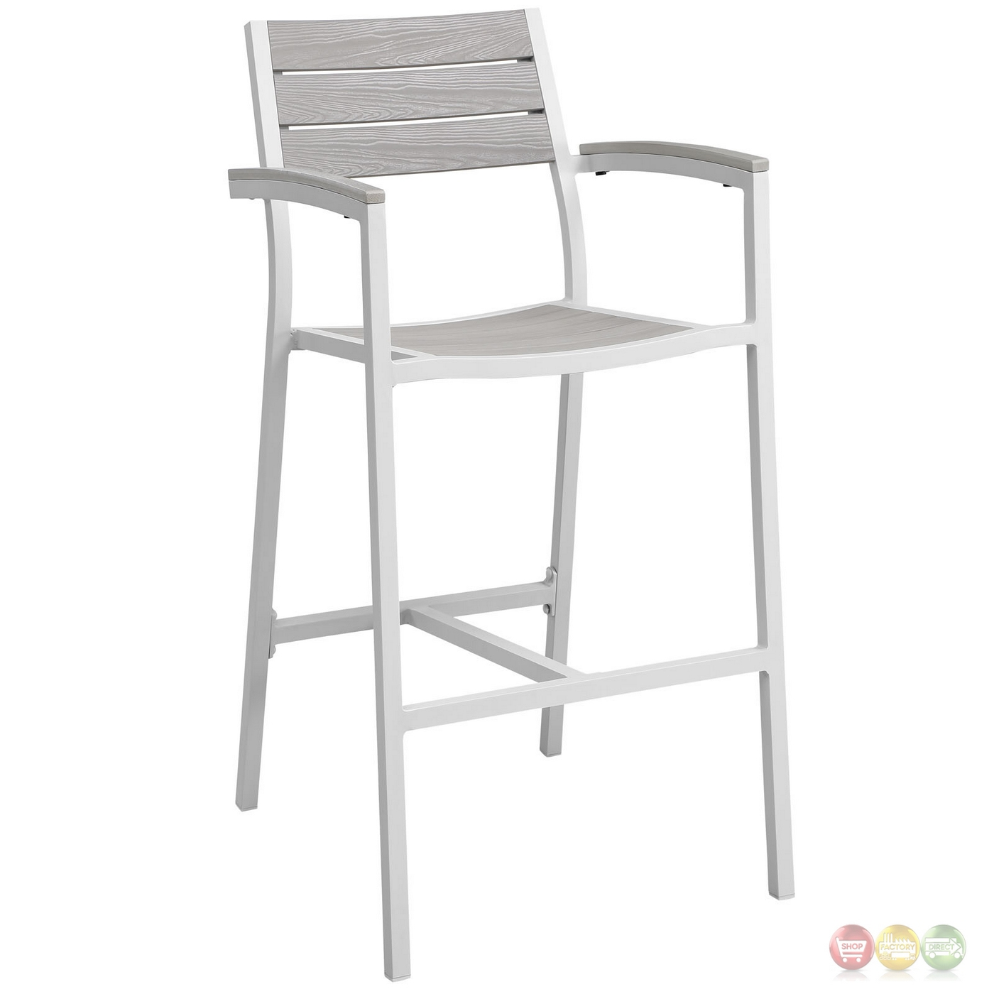 Set Of 2 Maine Rustic Wooden Plank Board Outdoor Patio  : set of 2 maine rustic wooden plank board outdoor patio bar stool white light gray 3 from shopfactorydirect.com size 1400 x 1400 jpeg 189kB