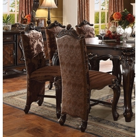 Set Of 2, Versailles Traditional Cherry Oak Counter Height Chairs