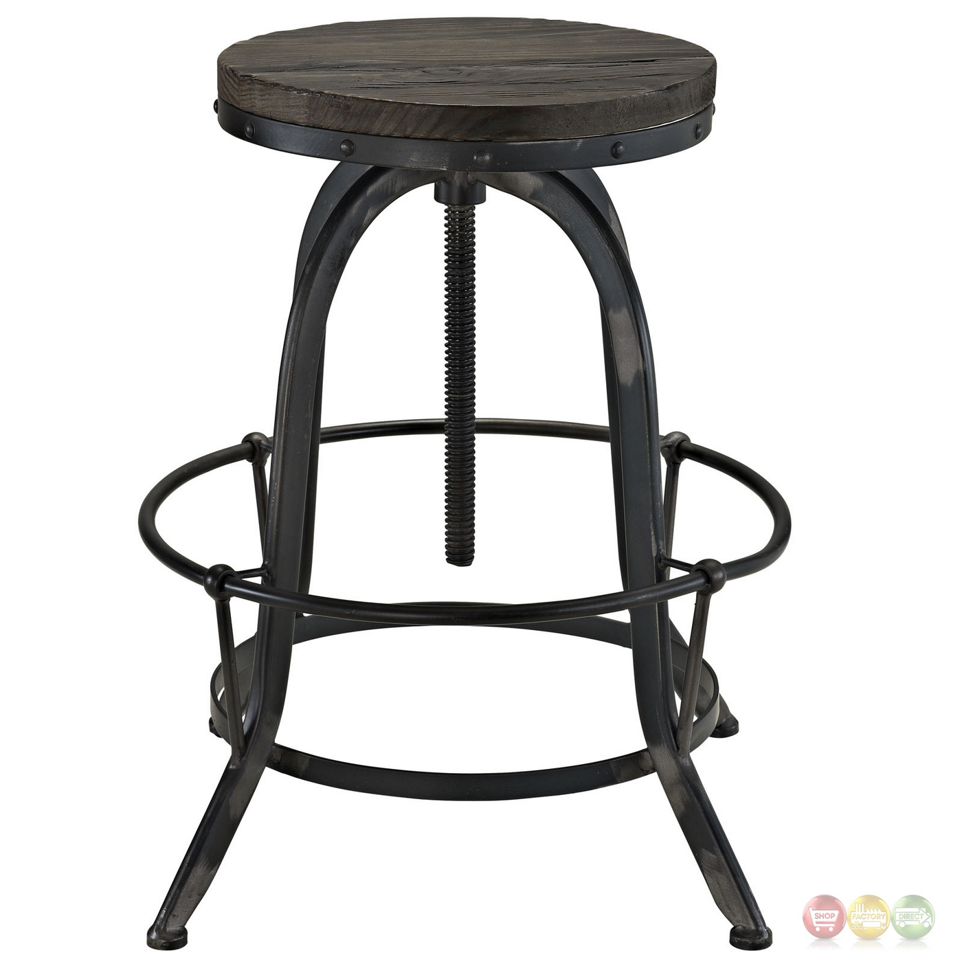 Set Of 4 Collect Industrial Bar Stool Wwood Seat amp Cast  : set of 4 collect industrial bar stool w wood seat cast iron frame black 5 from shopfactorydirect.com size 1400 x 1400 jpeg 313kB