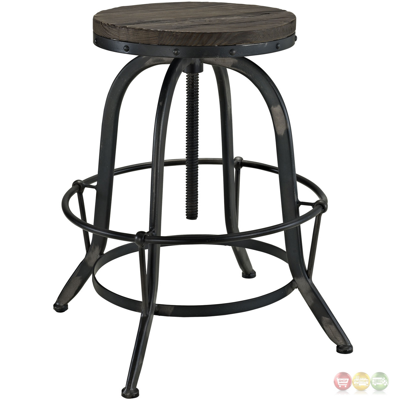 Set Of 4 Collect Industrial Bar Stool Wwood Seat amp Cast  : set of 4 collect industrial bar stool w wood seat cast iron frame black 7 from shopfactorydirect.com size 1400 x 1400 jpeg 343kB