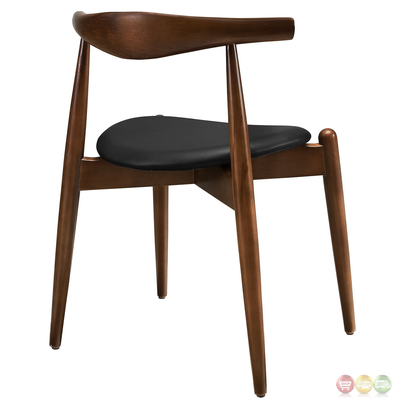 Wonderful image of  Wood Dining Side Chairs w/ Upholstered Seats Dark Walnut Black with #963537 color and 1400x1400 pixels
