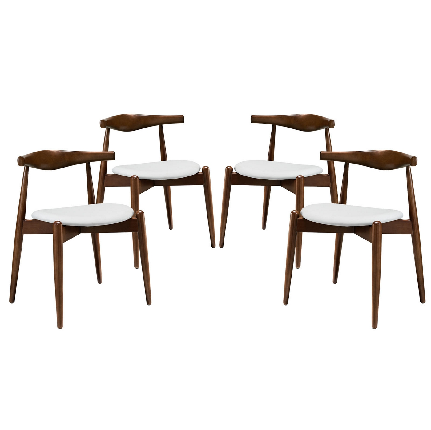 Set Of 4, Stalwart Contemporary Wood Dining Side Chairs W