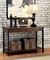 Seth Rustic 2-Drawer Wood Sofa Table with Black Metal Accents