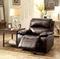 Seth Transitional Plush Brown Rocker Recliner In Genuine Top Grain Leather