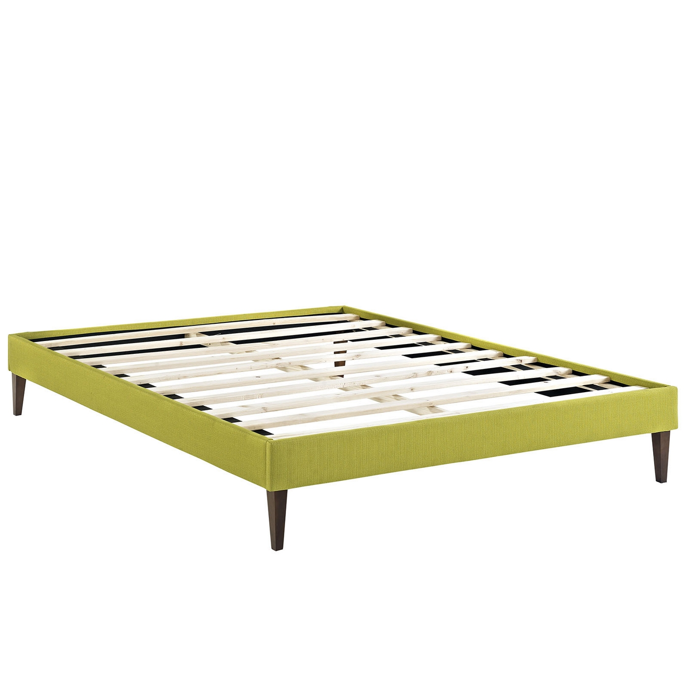 sharon modern king fabric platform bed frame with square legs