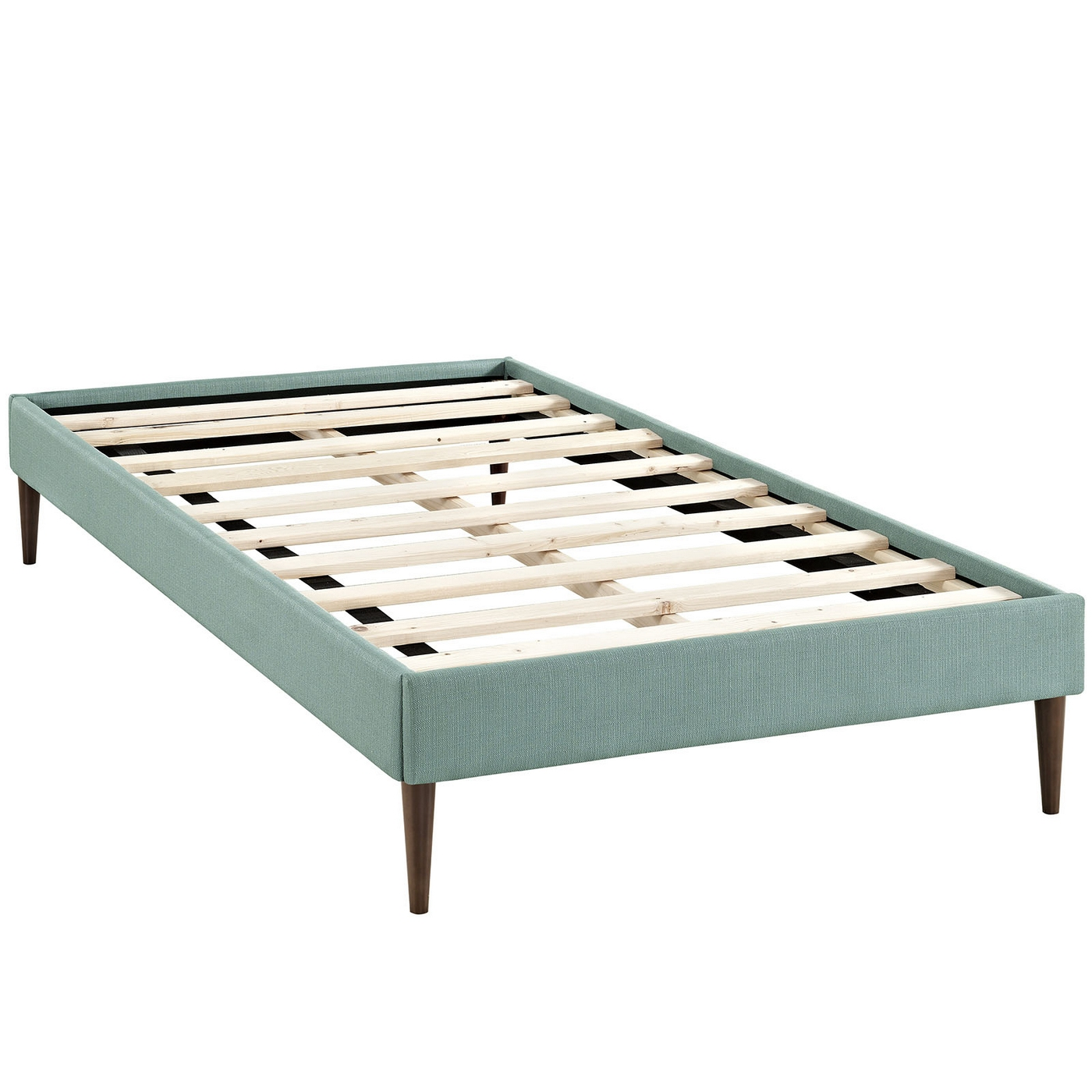 sherry upholstered fabric twin platform bed frame laguna