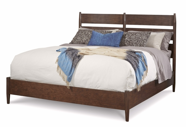Silver Lakes Slatted Chair Back King Bed with Walnut Finish