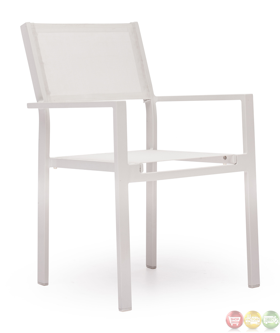 Silverstrand White Dining Chair Zuo Modern Modern Outdoor Furniture Fr