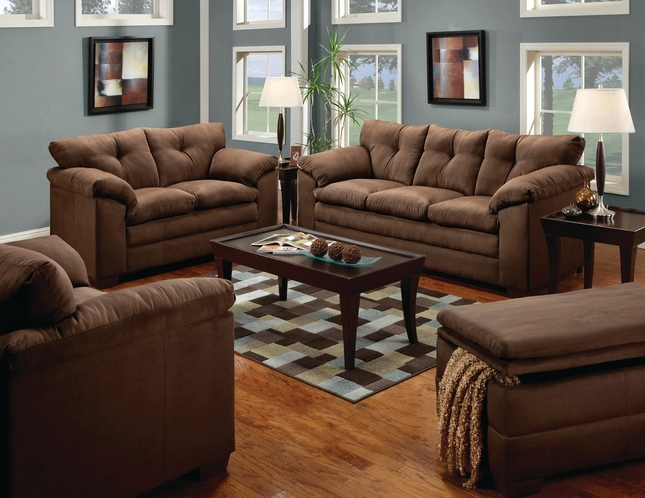 Brown Microfiber Sofa | Microfiber Sofa And Loveseat Set
