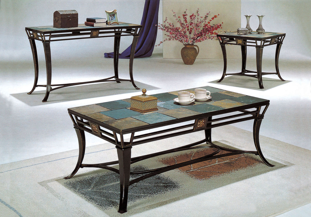 Slate Coffee Table Set Images Top