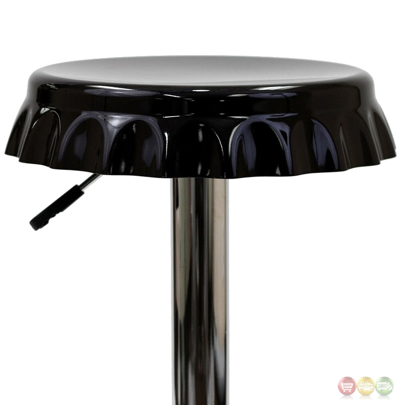 Soda Modern Bottle Cap Bar Stool W Chrome Base Amp Foot Rest