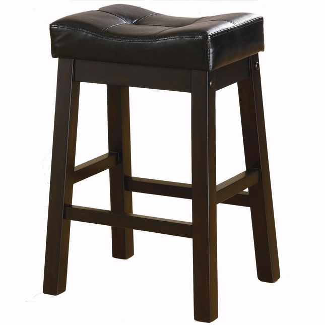 Sofie Set of 2 Dark Cherry 24 Inch Button Tufted Bar Stools