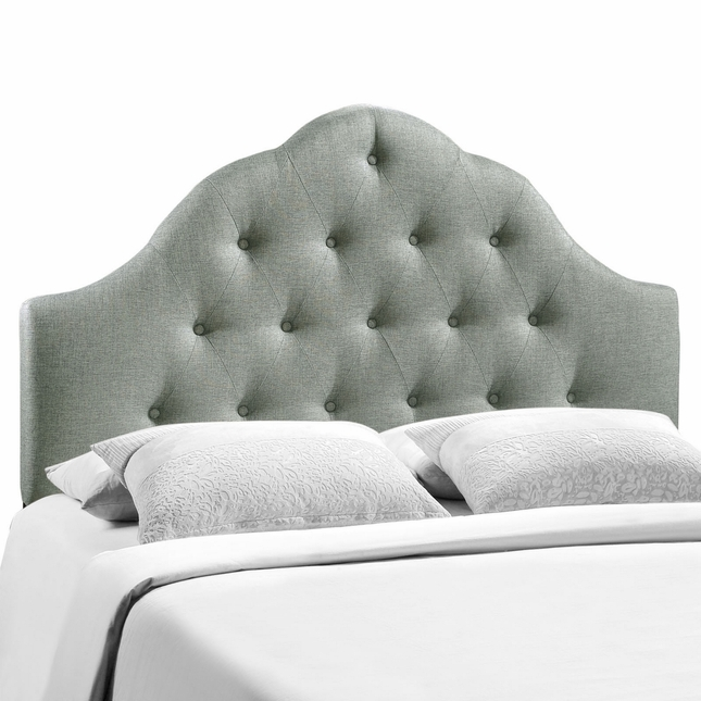 Sovereign French-inspired Button-tufted King Fabric Headboard, Gray