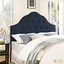 Sovereign French-inspired Button-tufted King Fabric Headboard, Navy