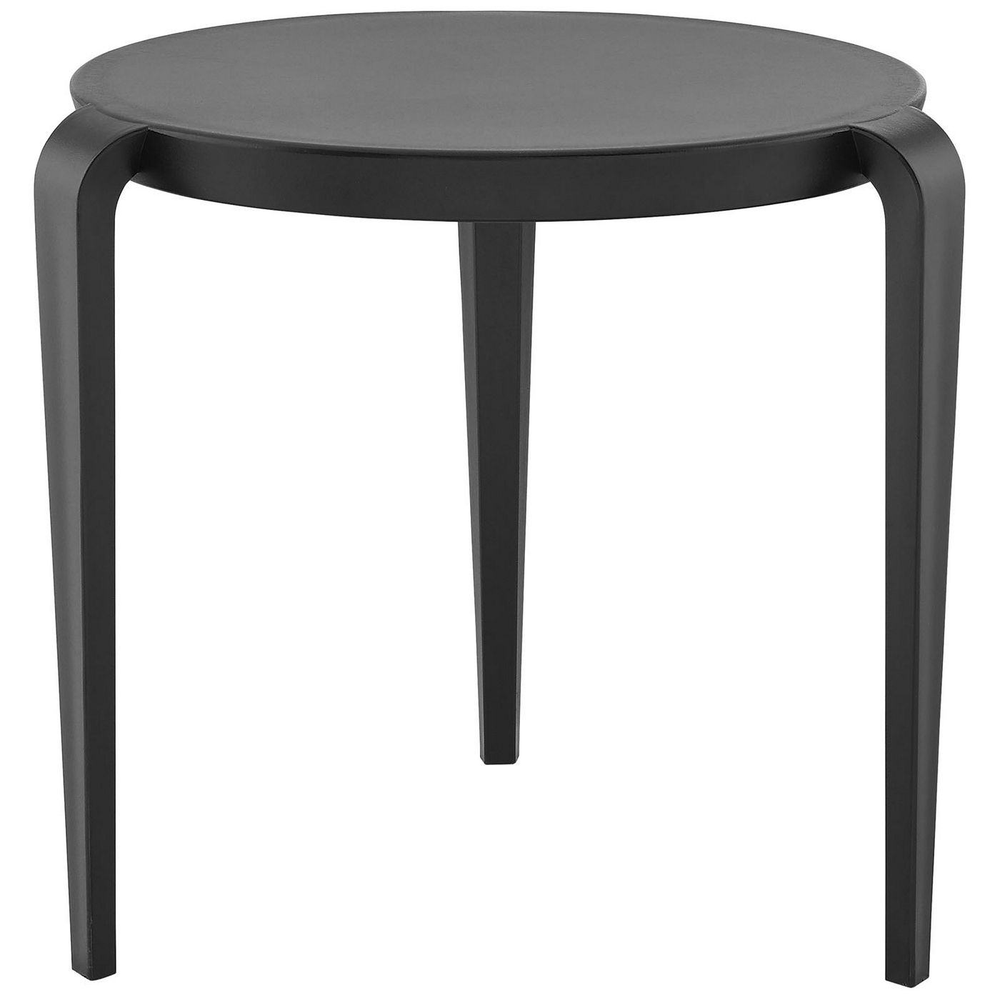 Spin Contemporary 3 legged Round Plastic Side Table Black