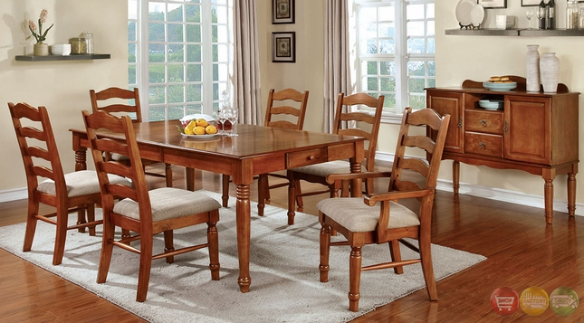 Country Style Dining Room Set Oak Formal Dining Room Set