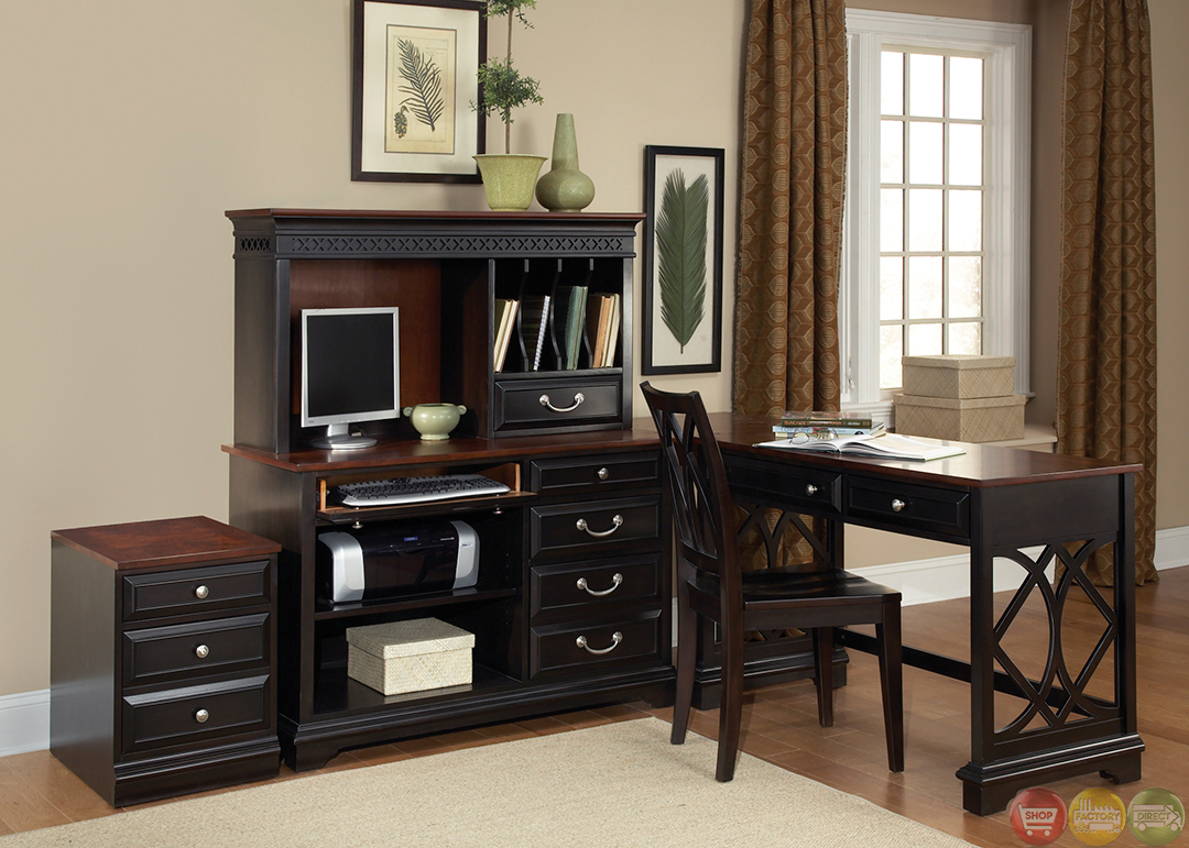 st ives transitional l shaped home office furniture set