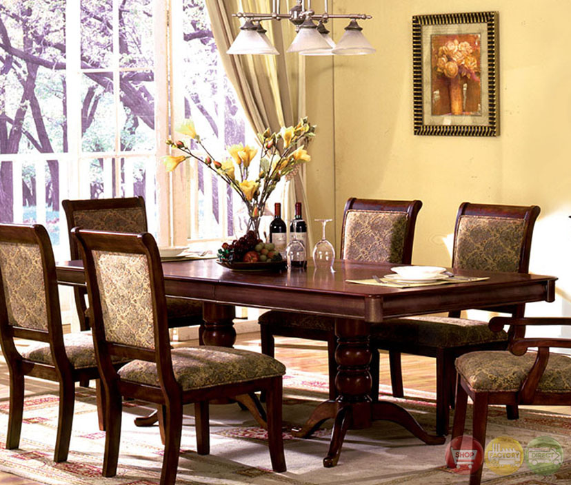 Transitional Dining Room Furniture: St. Nicholas I Transitional Antique Cherry Formal Dining