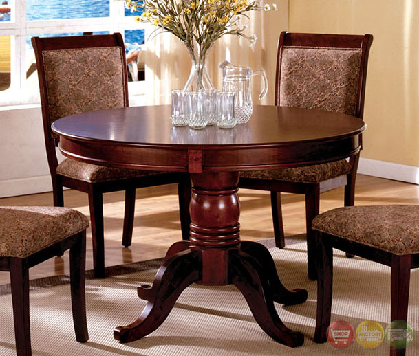 Casual Dining Room Chairs: St. Nicholas II Transitional Antique Cherry Casual Dining