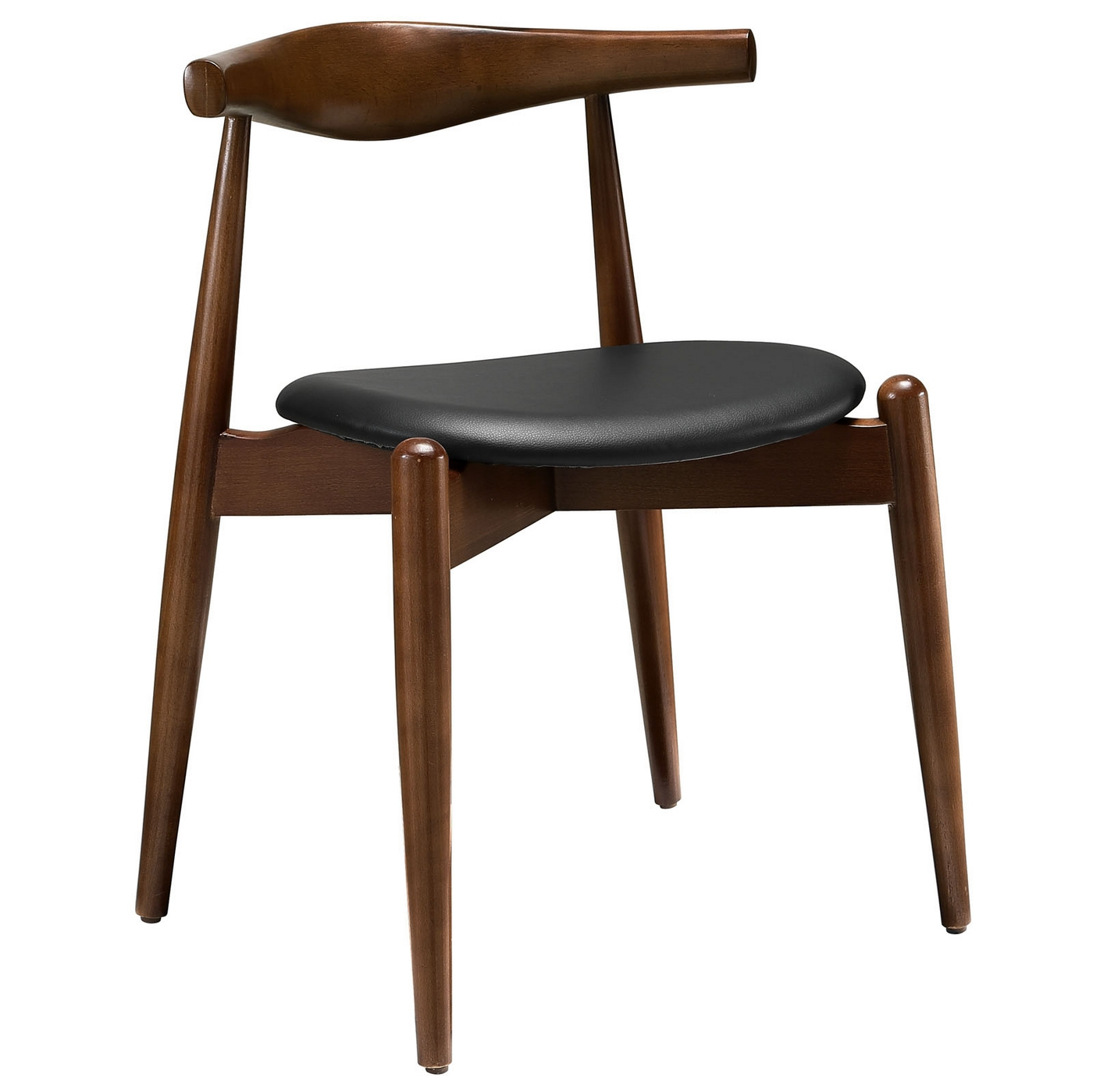 stalwart contemporary solid wood dining side chair with
