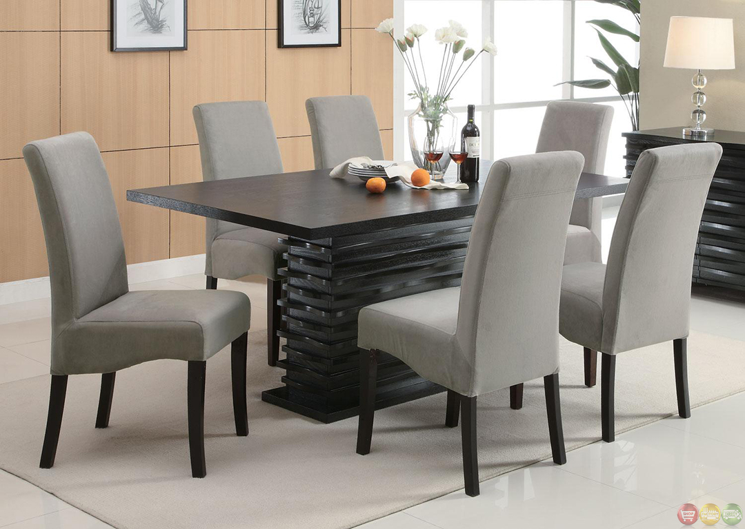 stanton semi formal gray 7 piece dining room furniture set