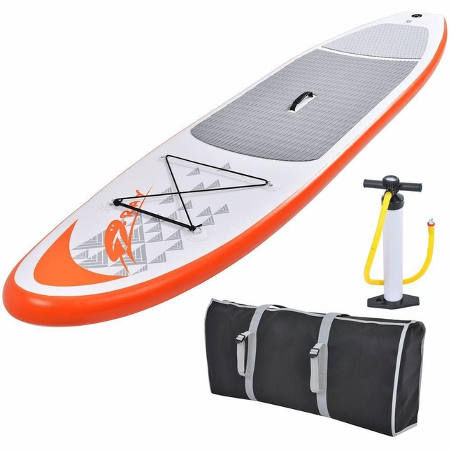 Stingray 11 Foot Inflatable SUP Stand Up Paddle Board with Paddle and Carry Bag