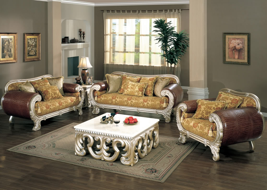 strasbourg croc leather luxurious formal living room furniture set