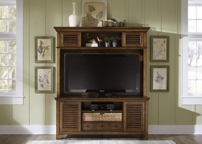 Summerhill II Cottage Tobacco Finish Entertainment Center