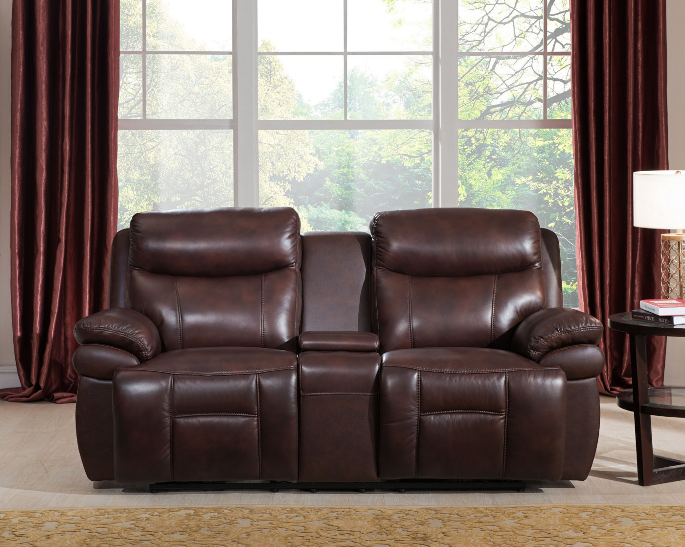 Summerlands powered 3pc reclining sofa set in genuine for Reclining sofa sets