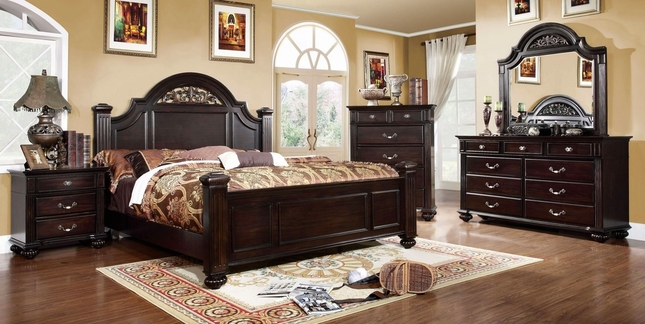 Dark Walnut Bedroom Set Syracuse Bedroom Set Shop