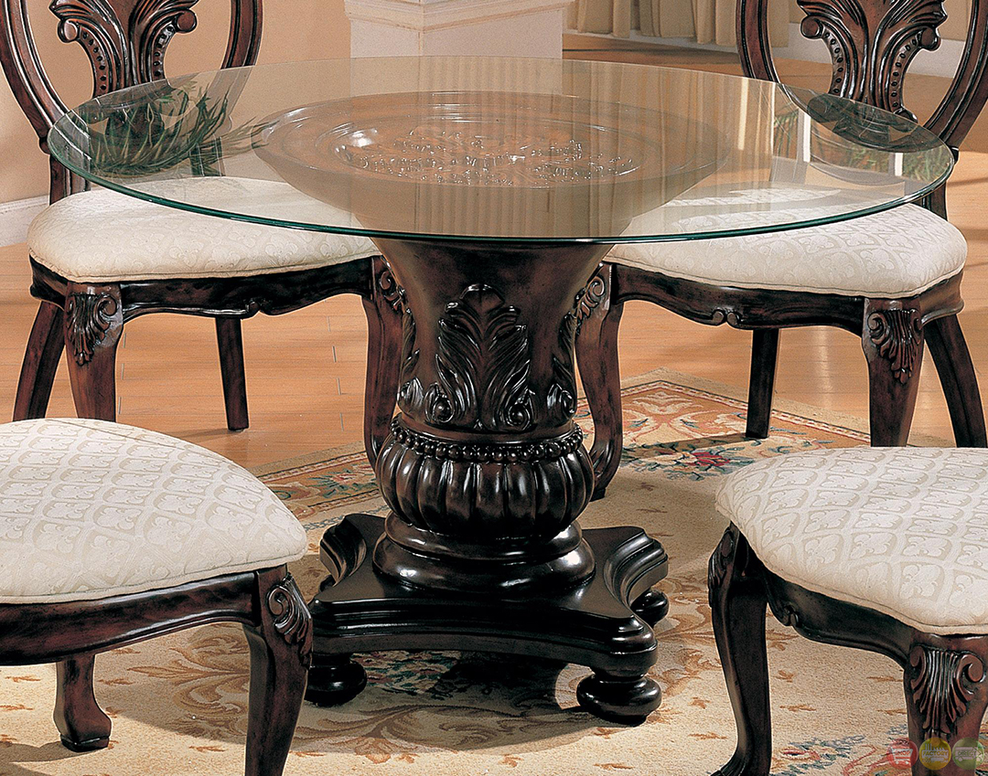 tabitha dark cherry traditional 5 piece dining room set