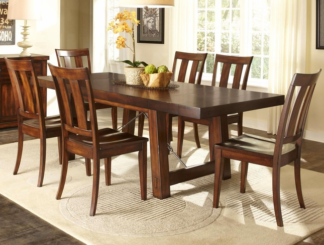Delightful Tahoe Rustic Furniture #2: Tahoe Rustic Style Mahogany Finish Dining Room Set