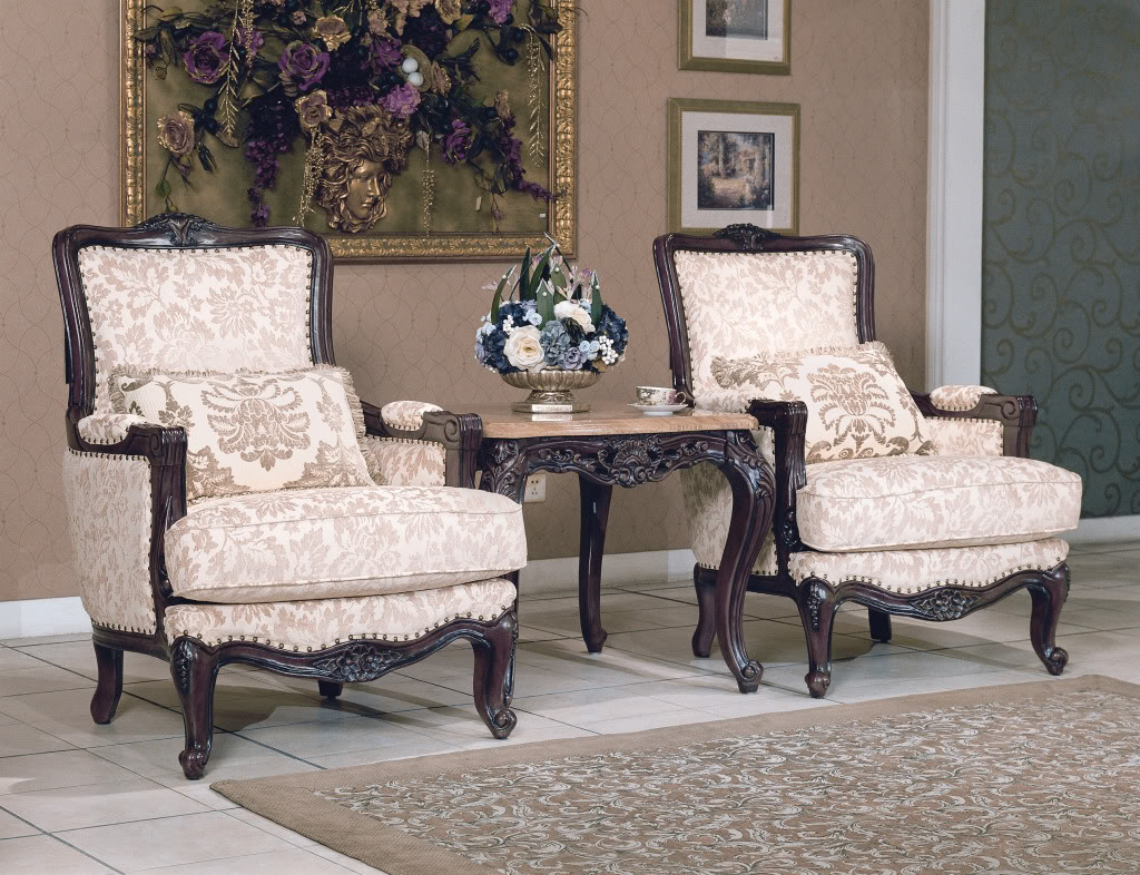 Tanner Traditional Luxury Formal Living Room Furniture Set