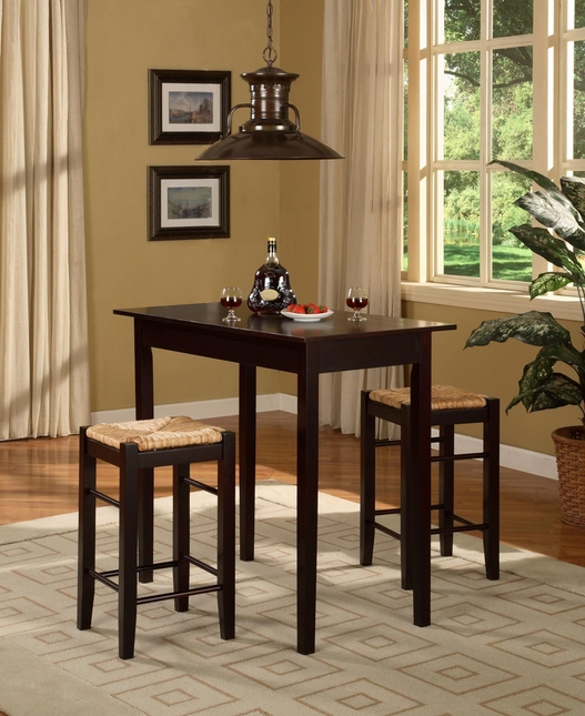 Tavern Three Piece Espresso Finish Counter Set