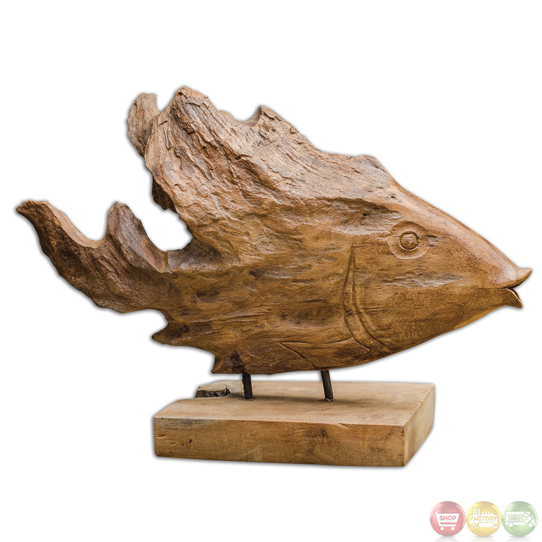 Teak Country Natural Teak Wood Sculpture With 17084
