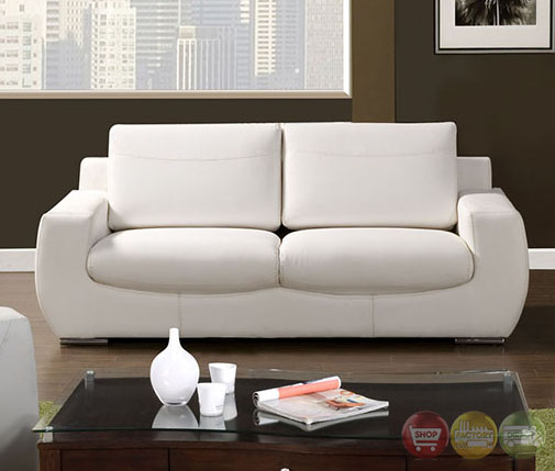 tekir contemporary white living room set with bonded