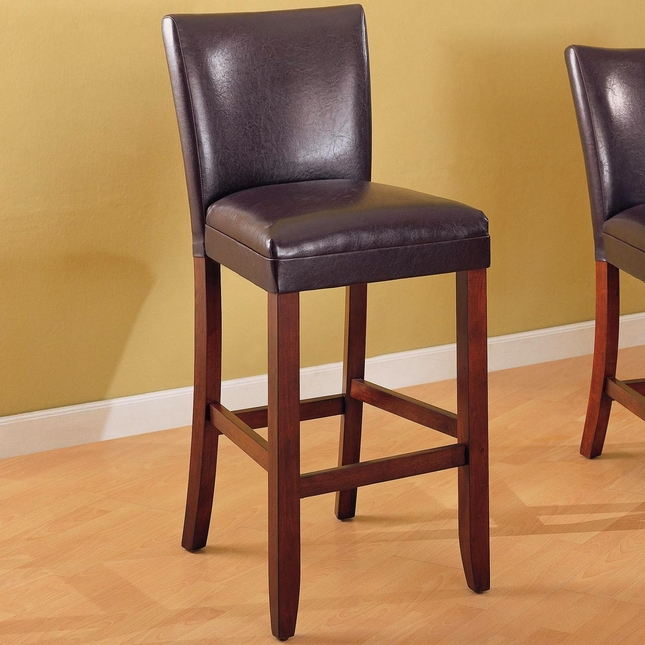 Telegraph Set of 2 Brown Faux Leather Casual Barstools