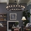 "Teleport Industrial 52"" Suspension-style 24-bulb Chandelier, Brown"